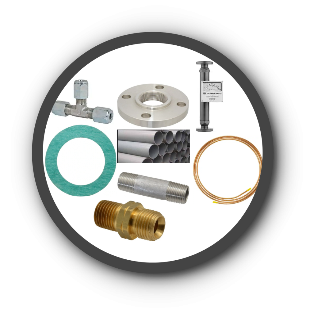 Pipe, Tube, Round Bar, Fittings, & Gaskets